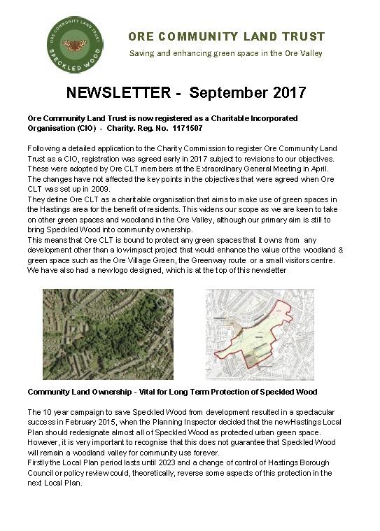 Newsletter - Sept 2017 image