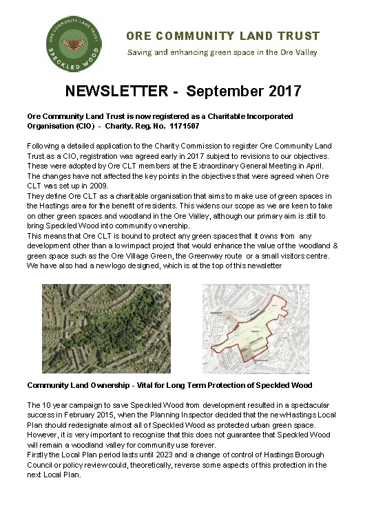 Newsletter - Sept 2017 image