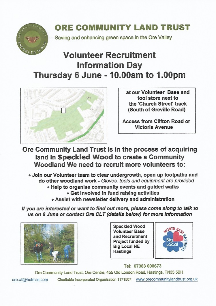 Volunteer poster May 2019